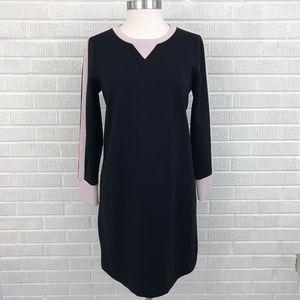 J. Crew Knit Sweater Dress Wool Colorblock - 10